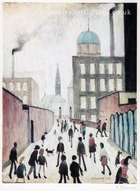 L S Lowry  Mrs Swindells  Signed Limited Edition Print