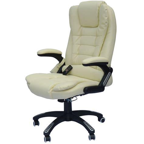 fauteuils de bureaux fauteuil de bureau massant novito creme