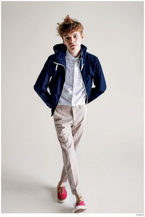 uniqlo embraces simple fitted mens fashions  spring