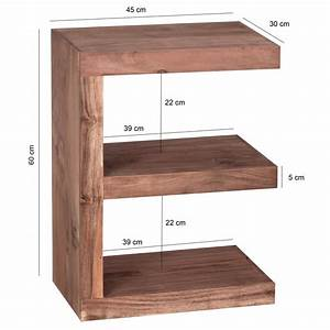 Beistelltisch 70 Cm Hoch : finebuy beistelltisch massivholz e cube 60cm hoch ~ Whattoseeinmadrid.com Haus und Dekorationen