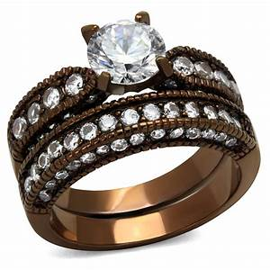 cje1318lc wholesale chocolate light plated wedding ring With chocolate wedding ring sets