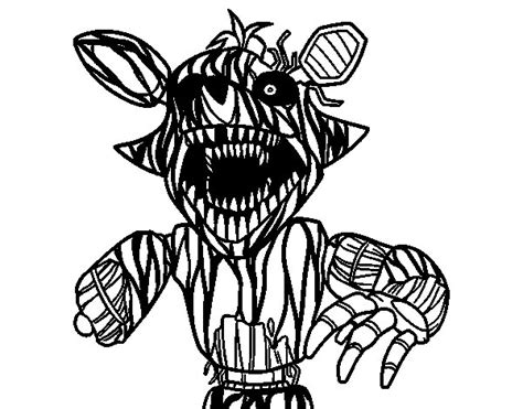 Five Nights At Freddys Kleurplaat Foxy by Terrifying Foxy From Five Nights At Freddy S Coloring Page