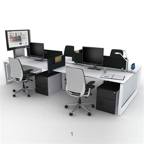 steelcase bureau steelcase frameone loop bench desks office desks