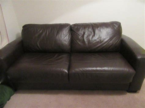 brown leather settee sale brown leather sofa bed from furniture for