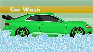 Green Sports Car And Car Wash