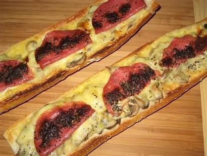 Zapiekanka Polish Meals Cheese Baguette Baked Cooking