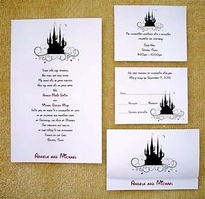 100 personalized custom cinderella castle disney wedding With personalised disney wedding invitations