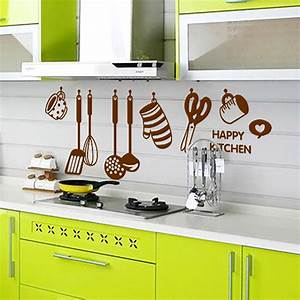 New arrival home decor diy removable happy kitchen