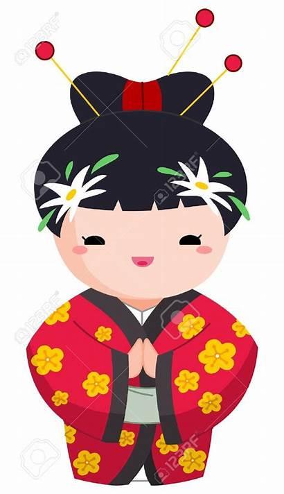 Cartoon Japanese Clipart Chinese Characters Geisha Character