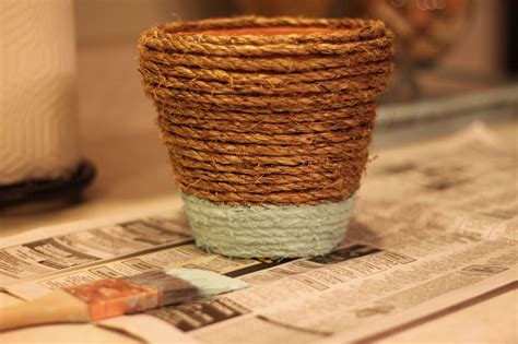 hometalk rope wrapped painted pots