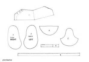 Paper Baby Shoe Template Printable