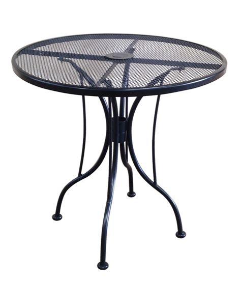 wrought iron black mesh table 36 quot with umbrella