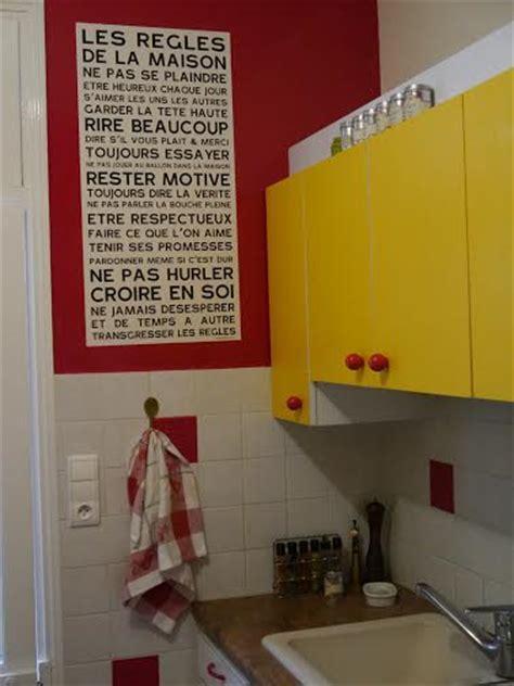 regle cuisine les règles de la maison home poster affiche sticker