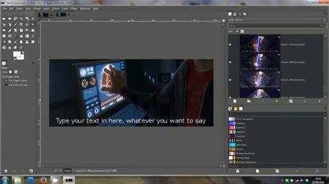 gimp tutorial add text   animated gif  clip