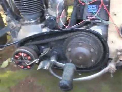 rachmad s bsa motorcycle ac generator upgrade ignition and accu charging up 12 volt youtube