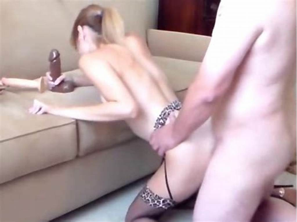 #Wife #Fucked #While #Sucking #A #Dildo
