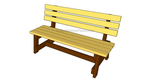 free outdoor garden bench plans woodworking projects