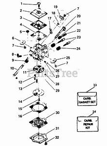 Poulan Parts On The Carburetor Assembly P  N 35094 Diagram