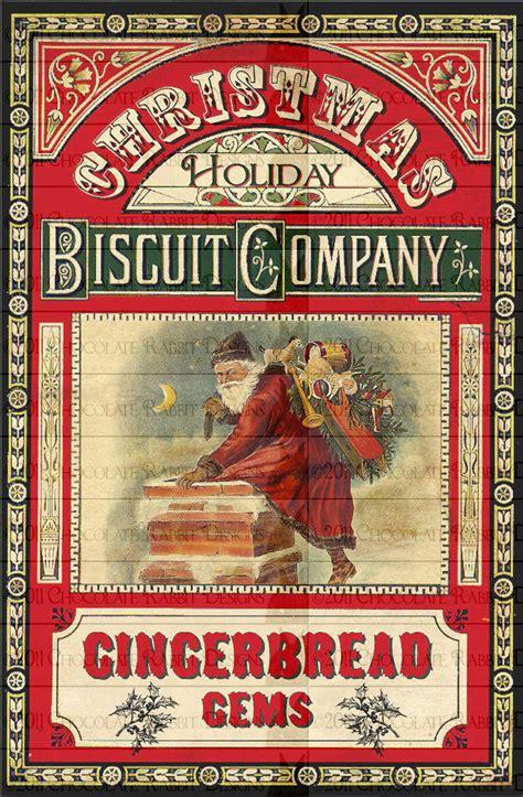 vintage victorian christmas gingerbread digital