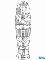 Coloring Egyptian Sarcophagus Pages Antike sketch template