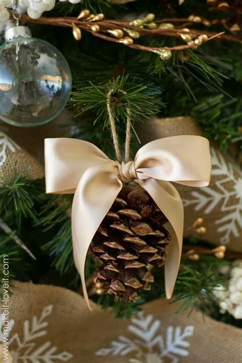 diy pine cone christmas ornaments pinecone ornaments or decor holidays pinterest