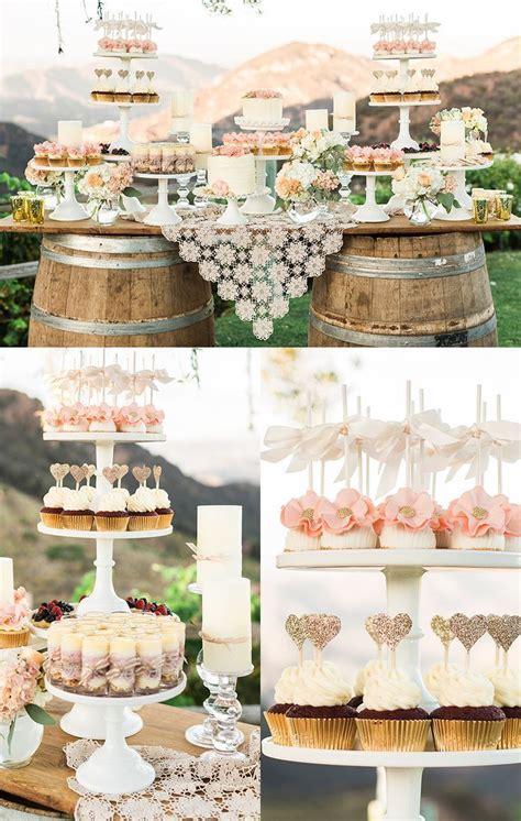 classy ranch wedding  gold  pink dekor hochzeit