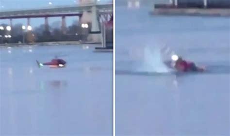 Moment New York Helicopter Crash Kills 5 People
