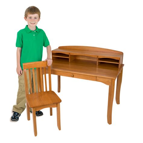 kidkraft avalon desk with hutch and chair honey worthy price for sale