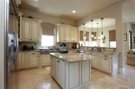 chefs kitchen  granite island