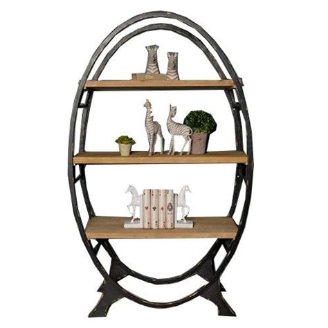 industrial oval bookcase bookcase furniture home
