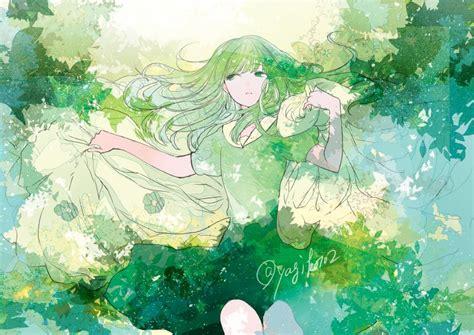 Anime Green Girl Aesthetic