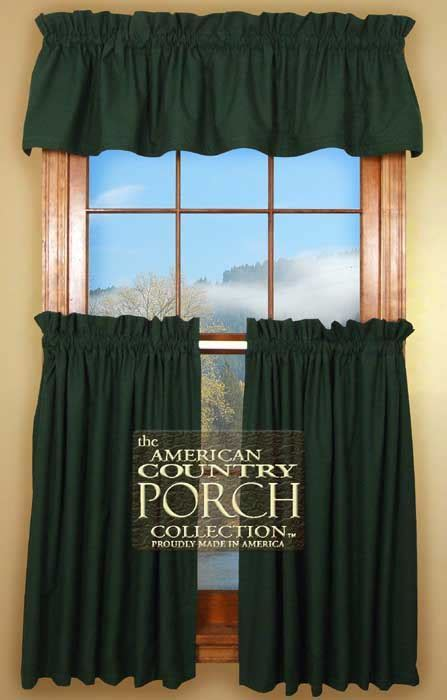 Solid Green Curtain Valances