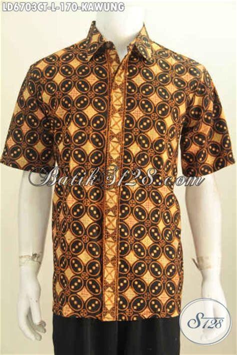 baju batik klasik motif kawung proses cap tulis pakaian