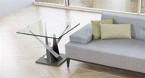 Elite Crystal Square End Table 2037e Ambiente Modern