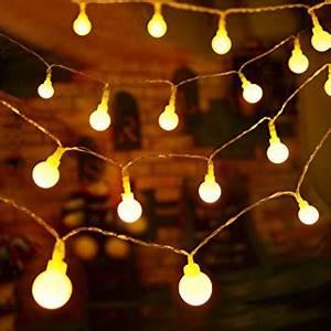 Guirlande Lumineuse Sans Prise : guirlande terrasse le m guirlande lumineuse boules piles boule en cm leds modes lumires ~ Teatrodelosmanantiales.com Idées de Décoration