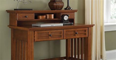 Mission Style Arts And Crafts Home Office Desk And Hutch