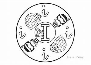 Mandalas con las letras del abecedario Escuela en la nube