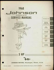 1968 Johnson Outboard Motor 5 Hp Service Manual
