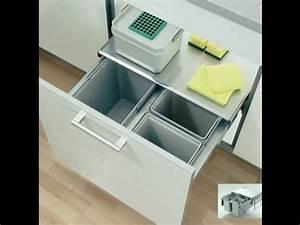 Meuble Poubelle Cuisine : d couvrez notre poubelle tri s lectif pour meuble de ~ Dallasstarsshop.com Idées de Décoration
