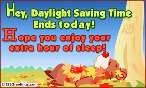 extra hour sleep daylight saving time ends ecards