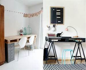 Schreibtisch Schwarz Ikea : schreibtisch selber bauen 29 ideen aus holz europaletten ~ Indierocktalk.com Haus und Dekorationen