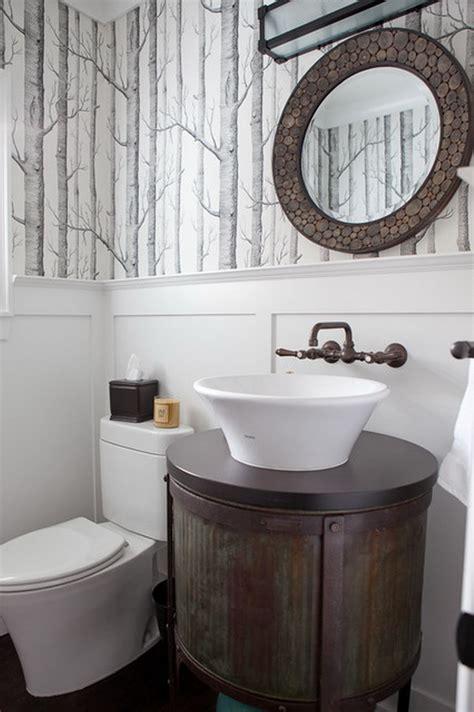 bathroom powder room ideas wonderfully wallpapered powder rooms homedesignboard