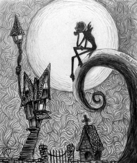edward scissorhands christmas nightmare before christmas by vivsters on deviantart
