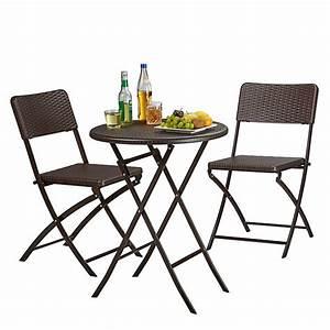 Gartenstühle Und Tisch : 3 tlg polyrattan gartenm bel set bastian klappbar 2 gartenst hle tisch rund braun yomonda ~ Markanthonyermac.com Haus und Dekorationen