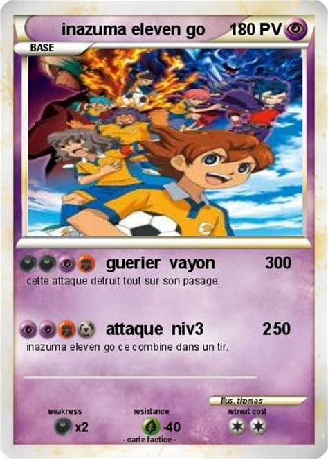 Carte Go by Pok 233 Mon Inazuma Eleven Go Guerier Vayon 300 Ma Carte