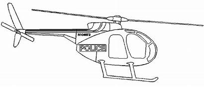 Helicopter Police Coloring Drawings Drawing Helicopters Pages