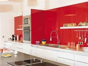 deco cuisine blanche et rouge With cuisine blanche et rouge