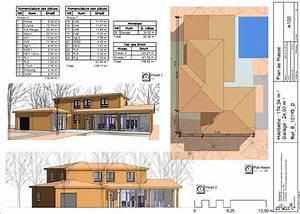 maison t6 kel projet With plan maison etage 100m2 16 maison bois kel projet
