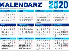 Kalendarz na 2020 rok do druku pdf Edukacyjne bajki do