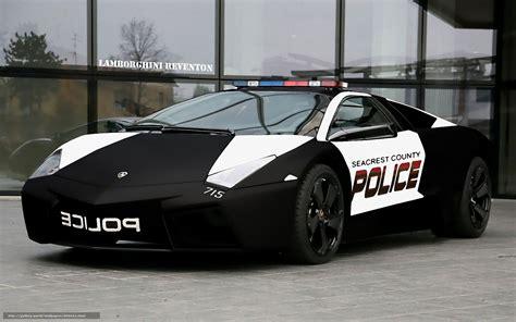 Lamborghini Reventon Police Car Wallpaper